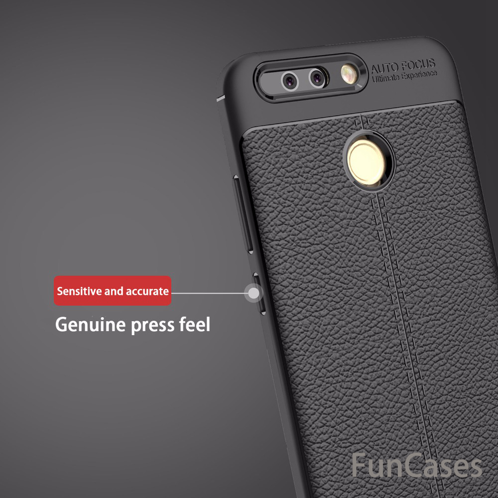 Soft TPU Leather Carbon Fiber Cover for Huawei P9 Case Funda Anti-Knock Shockproof Armor Original Case for Huawei P9 Cover Coque