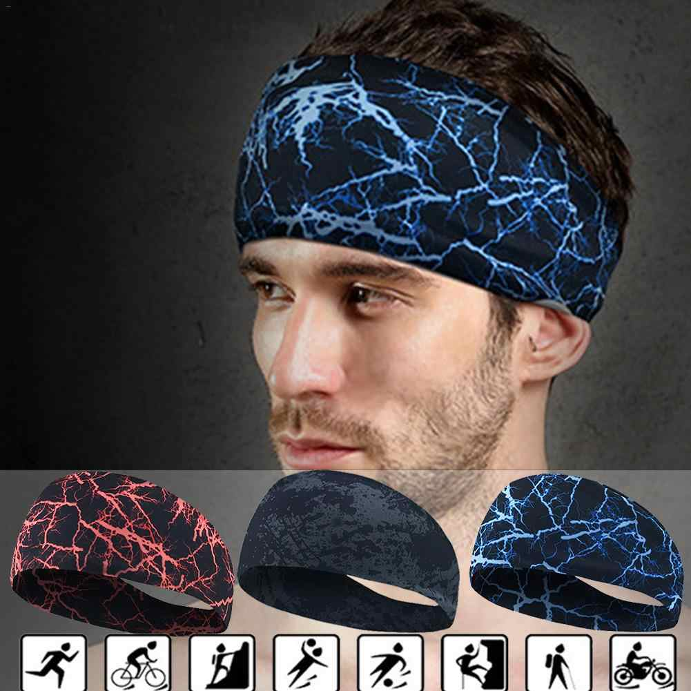 Sport Sweat Headband Sweatband Yoga Hair Bands Running Cycling Dance Fitness Head Anti Sweat Bands Sports Safety Bands For Men W