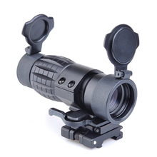 Tactical Sight Scope 3x Magnifier Sight Riflescope With Side Flip Picatinny Rail Mount Airsoft Rifle Outdoor Hunting Shooting недорого