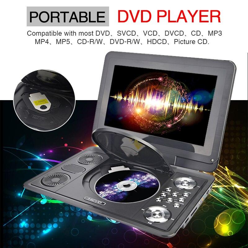 13 inç DVD Portable DVD Player Mobile Mobile Multimedia Player TV - Audio dhe video në shtëpi - Foto 5