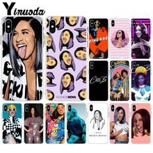 Yinuoda American Rap Singer Cardi B Pattern TPU Soft  Cell Phone Case for iPhone X XS MAX 6 6s 7 7plus 8 8Plus 5 5S SE XR