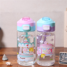 New Cartoon Summer Drinking Water Bottle Portable Sport Outdoor Kids Drinkware BPA Free 450ml