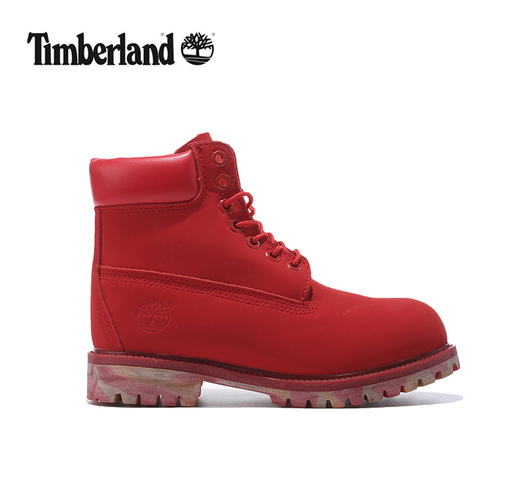 TIMBERLAND Women 10061 Military Camouflage Outdoor Fashion Martin Ankle Boots,Woman Leather Red Street Elegant Casual Shoes