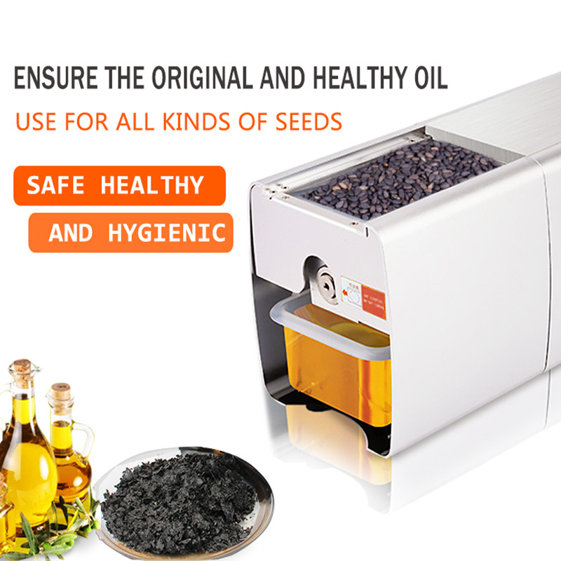 Moringa seeds oil pressers soybean peanut oil making machine automatic vegetable oil press machine for home or commercial
