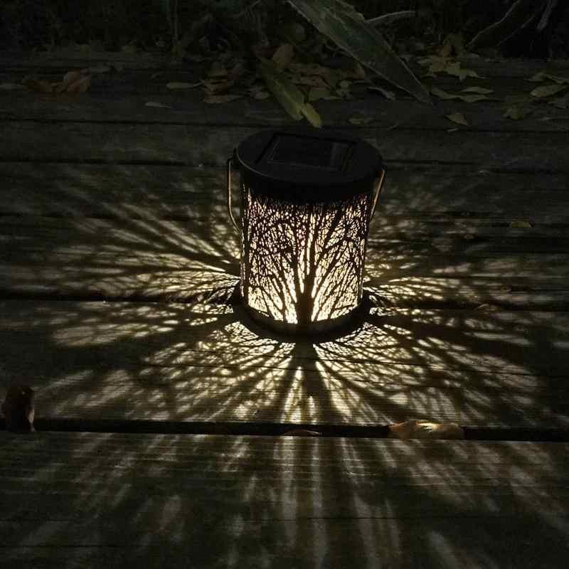 2 шт. металлические Ротанговые современные солнечные светодиодные свисающие светильники Открытый водонепроницаемый сад декоративные светильники ночник для дома, сада, двора
