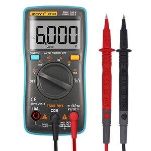 Image 1 - Multimètre numérique ZT102, avec éclairage arrière, 6000 mesures, ampèremètre AC/DC, voltmètre Ohm fréquence Diode température