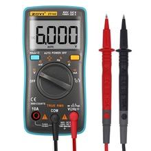 ZT102 Multimetro Digitale 6000 conta Torna la luce AC/DC Amperometro Voltmetro di Ohm Frequenza Diodo Temperatura