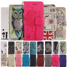 Cute Animals Lion Owl Flip Leather Phone Case Cover For Samsung Galaxy J3 Prime J5 J7 2017 A3 A5 S8 S9 Plus J330 J530 J730 On 5(China)
