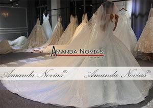 Image 3 - 2019 designer shinny wedding dress voile mariage