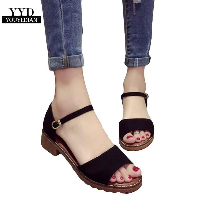 Women Sandals Footwear Flats Flip-Flops Summer Shoes Comfortable Casual Fashion YOUYEDIAN