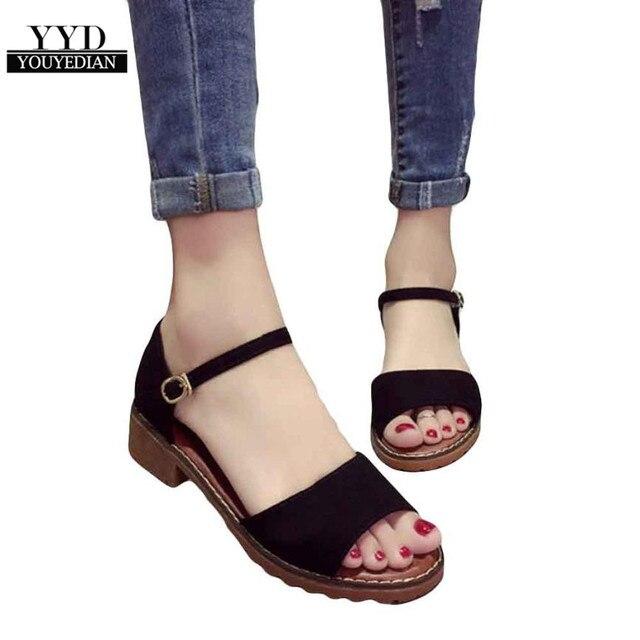 YOUYEDIANNew קיץ נשים סנדלי דירות מתוקות נוח חוף סנדלי כפכפים מקרית קיץ נעלי אופנה הנעלה עבור #2