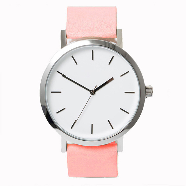 Minimalism Couple Quartz Watches Simple Leather Strap Lover Wrist Watches Casual