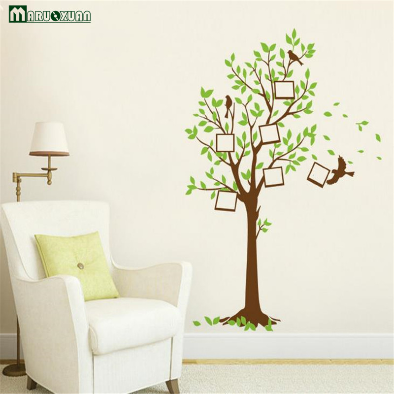 wishing chair photo frame cost to reupholster maruoxuan cartoon tree bird picture vinyl wall stickers for kids rooms children room mural home decor in from