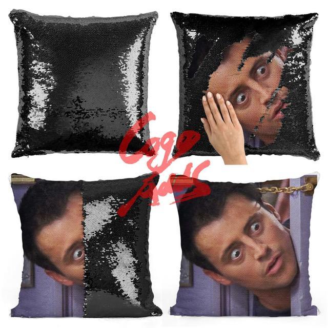 Friends TV SHOW الترتر الوسائد جوي Tribbiani إقتباس ديكور المنزل ، غطاء وسادة ، هدية لها ، هدية له ، هدية هووسورمينغ ، Gra