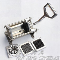 HOT Stainless Steel French Home Kitchen Fry Fries Potato Chips Strip Cutting Cutter Machine Maker potatoes tools
