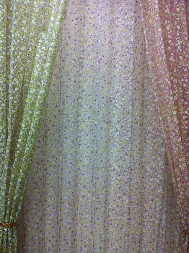 cs tulipn diseo floral rstico cortina escarpada voile telas tulle panel para la ventana del