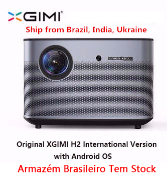 H2 XGIMI Projetor Home Theater 300 Polegada originais 1080 P Full HD Suppor4K 3D Android Bluetooth Wi-fi TV DLP Beamer