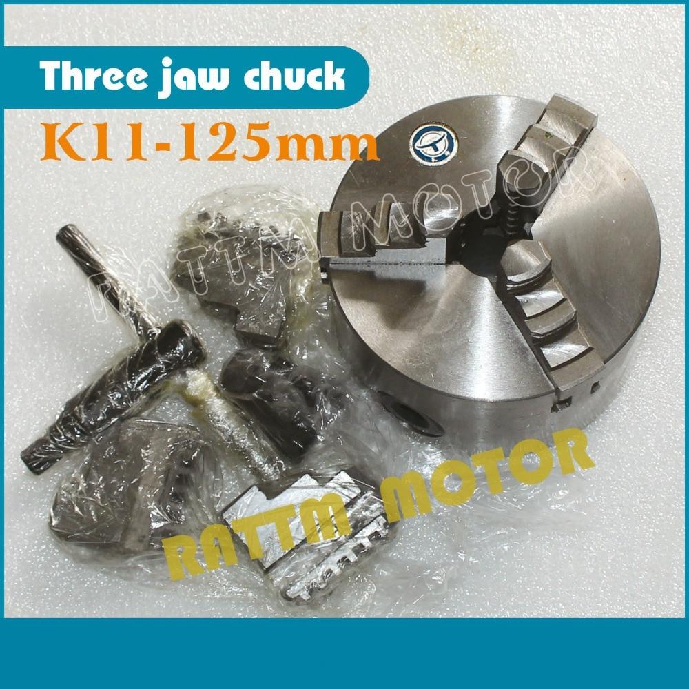 K11-125mm Three jaw self-centering chuck 3 jaw chuck Manual chuck  Machine tool Lathe chuck k11 125mm three jaw self centering chuck 3 jaw chuck manual chuck machine tool lathe chuck