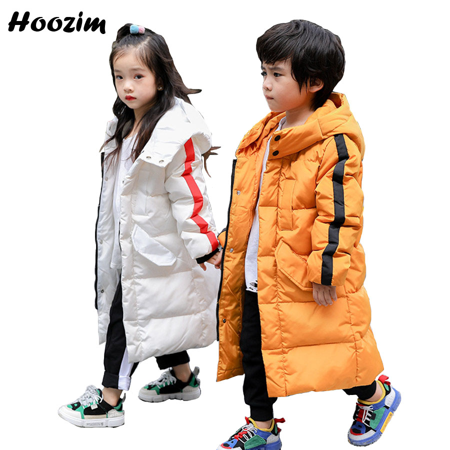 Winter White Duck Down Jacket For Girls 5-13 Years Fashion Kids Clothing Autumn Thick Warm Long Jacket For Boy Red Children Coat 2018 children down jacket girls winter long section kids clothing thick coat 30 degree warm outerwear for 7 9 10 11 13 years