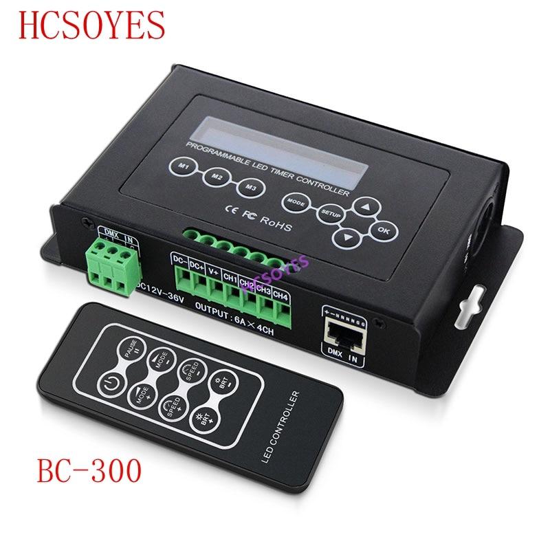 BC BC 300 Time programmable LED Controller RGB RGBW Tape Controller programmable Timer Light DMX 512 signal Controller DC12V 36V