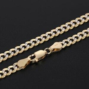 Image 4 - 18K Reinem Gold Halskette Echt AU 750 Solid Gold Kette männer Einfache Gehobenen Trendy Klassische Partei Edlen Schmuck heißer Verkauf Neue 2020