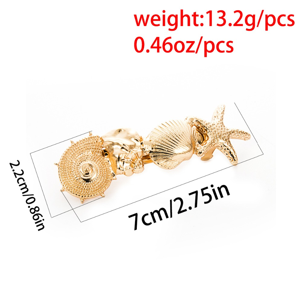 Купить с кэшбэком 2019 Hot Sale Women Girls Elegant  alloy summer shell  hair Clips Barrettes Hairpins Female Hair Styling Accessories F011