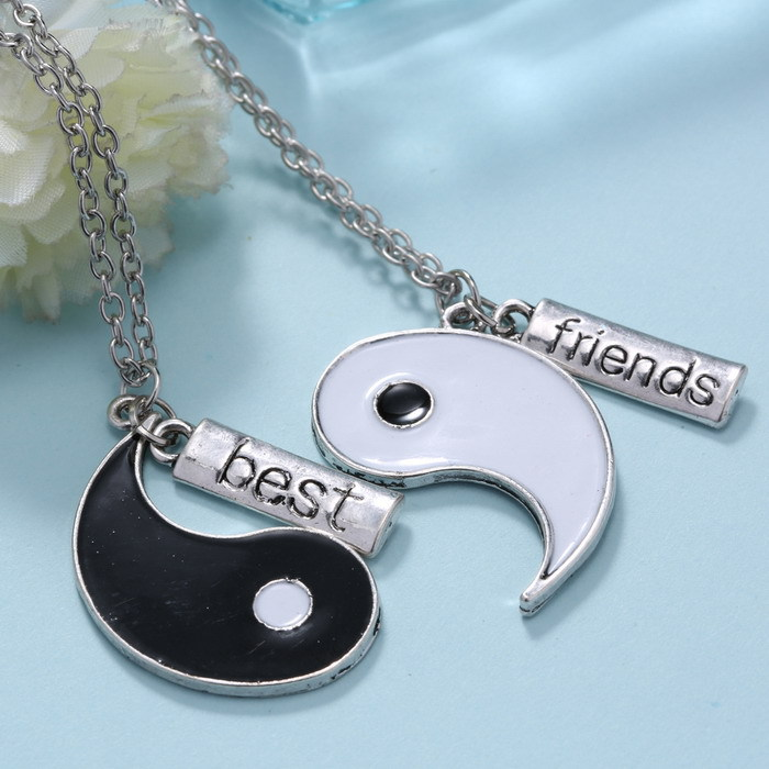 Couple jewelry personalized yin yang necklace broken necklace best couple jewelry personalized yin yang necklace broken necklace best friend hand stamped pendant two pendants for friends gifts in pendants from jewelry mozeypictures Gallery