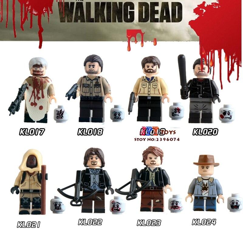 8pcs Star wars super hero marvel models kits The Walking Dead zombie Z Nation building blocks bricks toys for children juguetes набор фигурок the walking dead 4 в 1 8 см