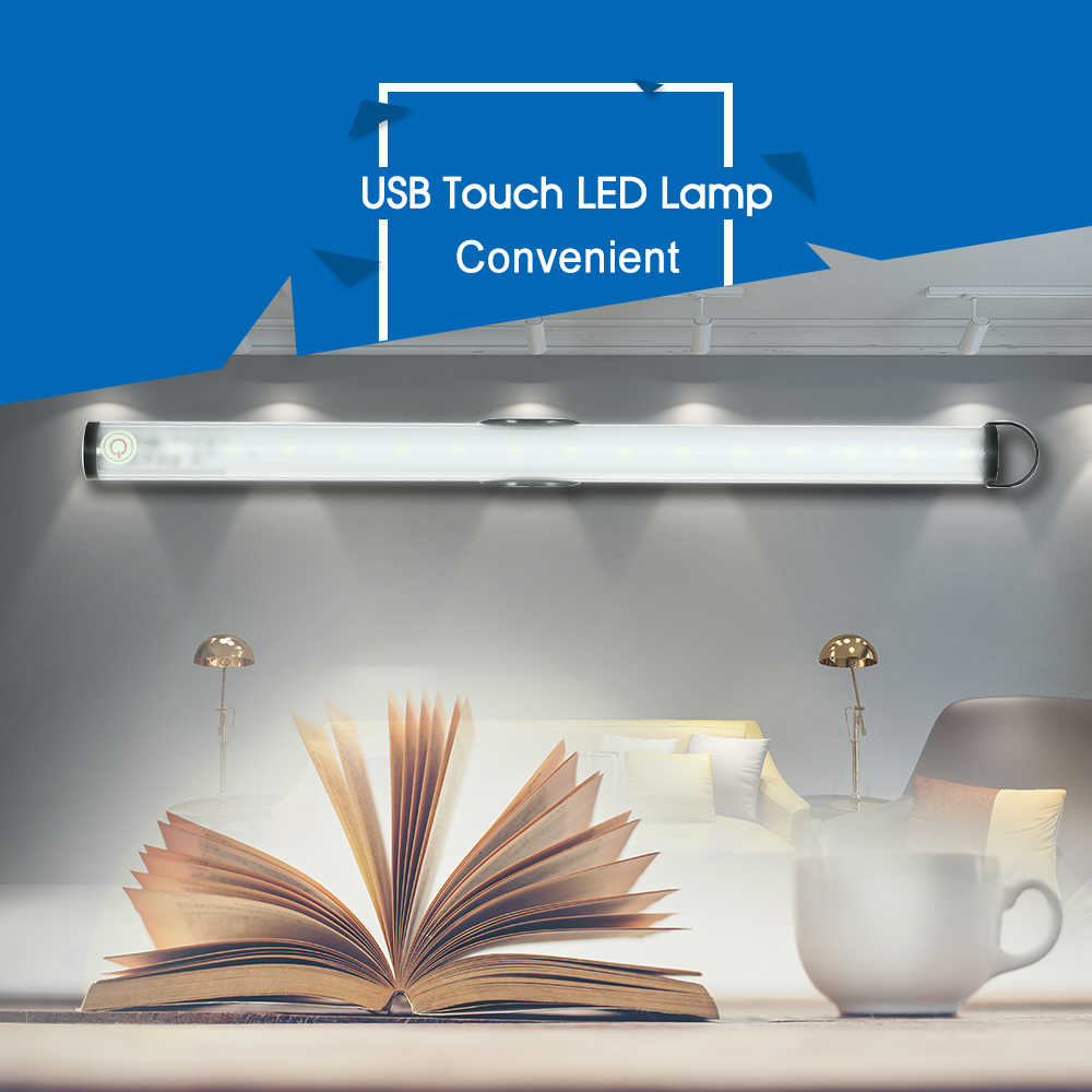 Шкаф сенсорная световая Лампа 15 светодиодный перезаряжаемый беспроводной сенсорный выключатель затемненная лампа-кнопка шкаф лестница ночник кемпинг свет