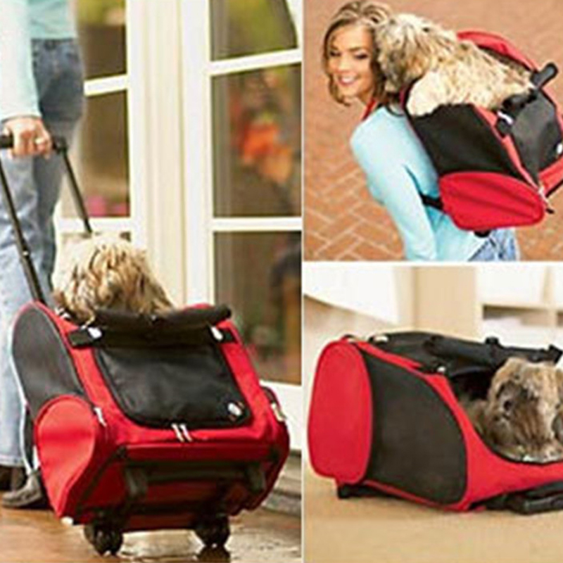 Mutifunctional Dog Cat Carrier Backpack Bag For Travel Breathable Pet Carrier Trolley Dog Puppy Kitten Pet Product Medium Dog
