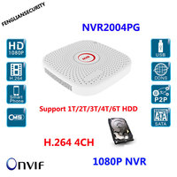 CCTV 4CH Mini NVR H 264 1080p 960P 720p Video Recorder NVR PC Mobile View Onvif