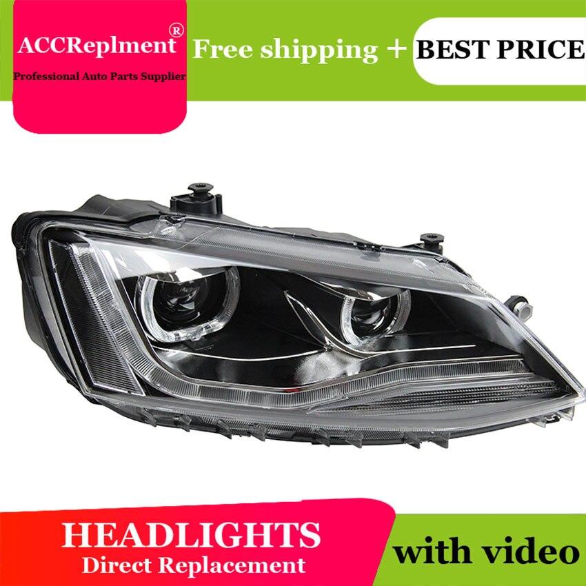 Car Styling LED Head Lamp for VW Passat B7 led headlight 2012-2014 US Type Volks Wagen drl hid Bi-Xenon Lens low beam