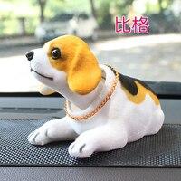 Dogs make cute animal Cute shake your head dog cartoon doll creative doll car decoration swing bulldog statue
