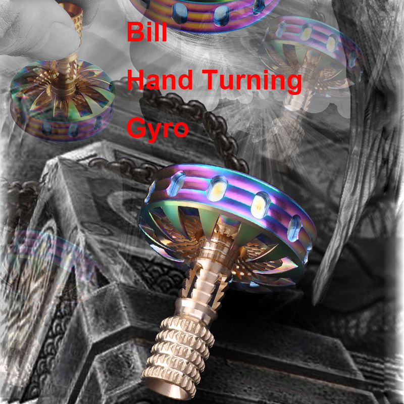 Bill Finger Gyroscope Manually Rotating The Toy Colorful Fingertip Gyro EDC Decompression Toy