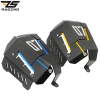 ZS Racing Motorcycle Coolant Recovery Tank Shielding Guard Frame Cover Protector Case For Yamaha MT 07