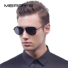 MERRY'S Fashion Classic Aviation Sunglasses Men HD Polarized Luxury Brand Designer Aluminum Driving Sun glasses UV400 S'8718