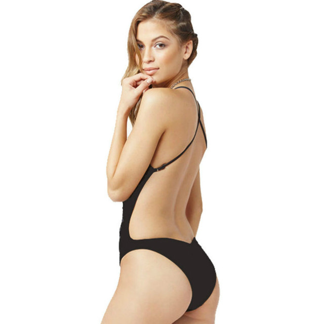 GLANE Sexy Women One Piece Swimsuit Swimwear Bathing Monokini Push Up Padded
