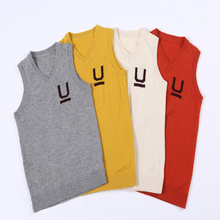 Autumn High Quality Cashmere Sweater Vest for Kids Wool Pullover Sweater Warm Children Cardigan Boys Girls Waistcoats 100-160 cm girls pullover wool sweater thick warm tops kids ribbed sweater 100