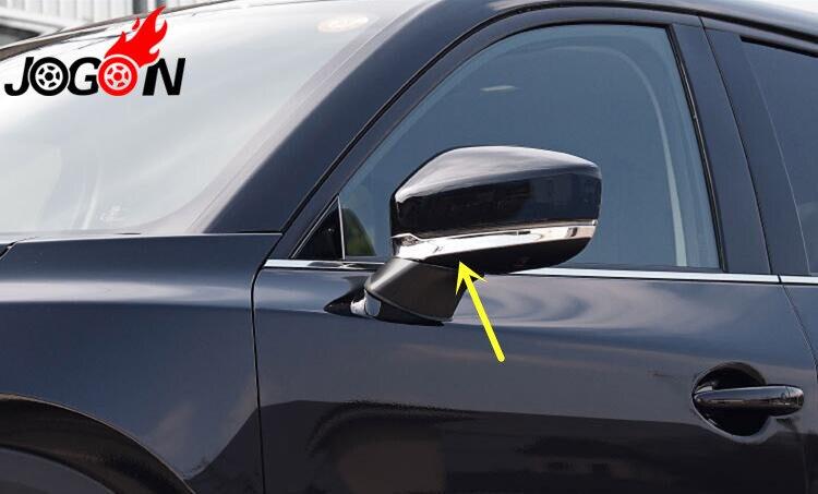 2 pcs Accessoires de Haute Qualité Porte Chrome Side Car Rétroviseur Cover Version POUR Mazda CX5 CX-5 2017 2018