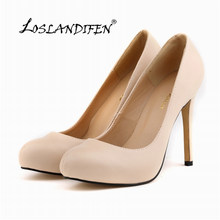 Womens Pumps Round Toe Matte PU Leather Sexy High Heels Shoes Platform Nude  Work Pumps Ladies 98a6d119ef44
