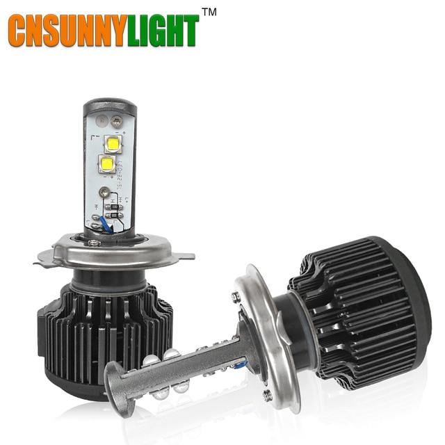 Cnsunnylight led h4 super brillante dc 12 v 24 v 80 w luz del coche faros de Conducción Daytime Running Light w/XML2 Chip Blanco de La Lámpara 6000 K