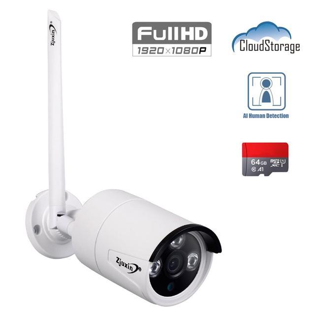 Zjuxin 1080P WIFI 옥외 사진기 당신의 가정 안전을위한 1920*1080 무선 IP 사진기 iCSee P2P 3.6mm 렌즈