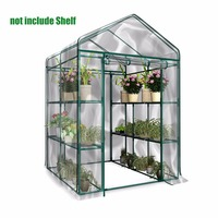 PVC Warm Garden Tier Mini Household Plant Greenhouse Cover Waterproof anti UV Protect Garden Plants Flowers (without Iron Stand)