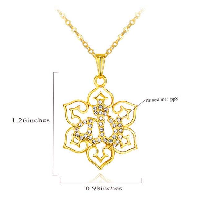 gorjuss islam allah islamic muslim fine jewelry necklace Fashion Gold Color Necklaces Pendants pendant fashion crystal jewellery 1