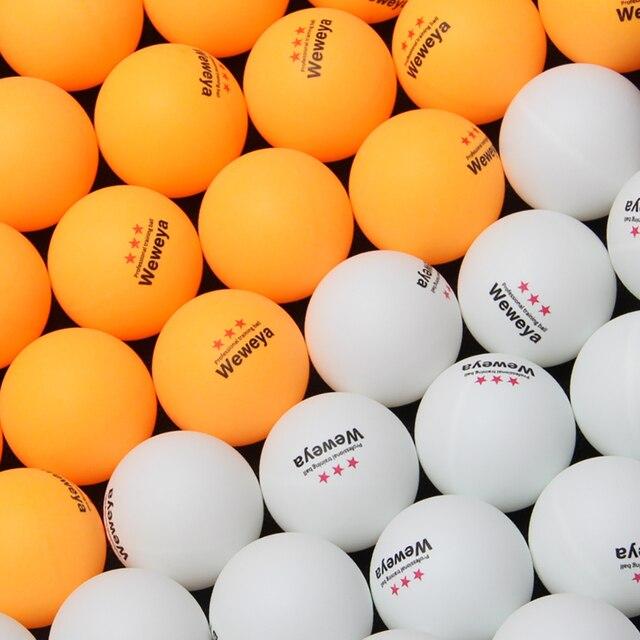Weweya 100 шт 3-Star 40 мм 2,8 г мячи для настольного тенниса мячик для пинг-понга белый оранжевый Pingpong мяч любительский продвинутый тренировочный мяч