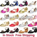 In stock lots of style Children latin/modern/practice dance shoes, Girls Shoes, Kid Ballroom Salsa Shoes free shipping