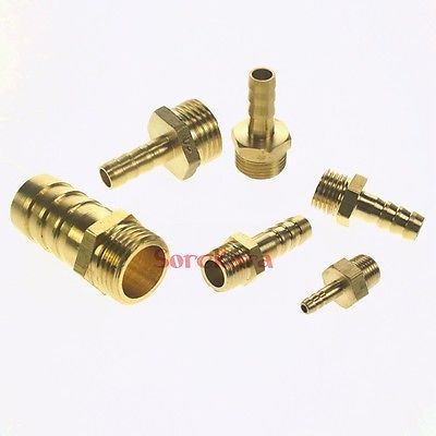 """Hose Barb 8mm x 1//2/"""" BSPT Male 304 Stainless steel coupler Splicer fitting"""