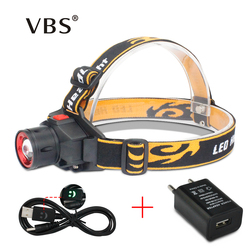 Headlamps Head Lights CREE Q5 1000 Lumens Head Light Led Bulbs Zoomable Head Flashlight Rechargeable For Hunting Camping