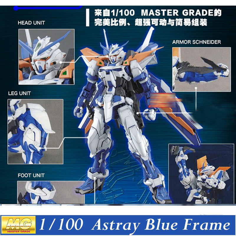 ФОТО Daban Model MG Gundam Astray Blue Frame Second Revise1/100 MBF-P03R Kits Assembled Hobby Action Figures robots plastic fans toys