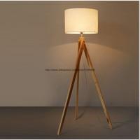 SETTEMBRE Modern Tripod Wood Floor Lamp Bedroom Living Room Stand Bedside Floor Light